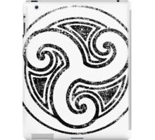 Skyrim Distressed Morthal Logo - B&W iPad Case/Skin