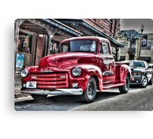 Red Pickup Canvas Print