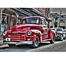 Red Pickup Photographic Print