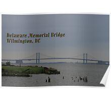 Delaware Memorial Bridge Postcard Poster