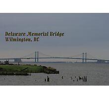 Delaware Memorial Bridge Postcard Photographic Print