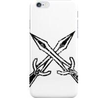 Skyrim Distressed Riften Logo - B&W iPhone Case/Skin