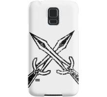 Skyrim Distressed Riften Logo - B&W Samsung Galaxy Case/Skin