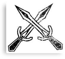 Skyrim Distressed Riften Logo - B&W Metal Print