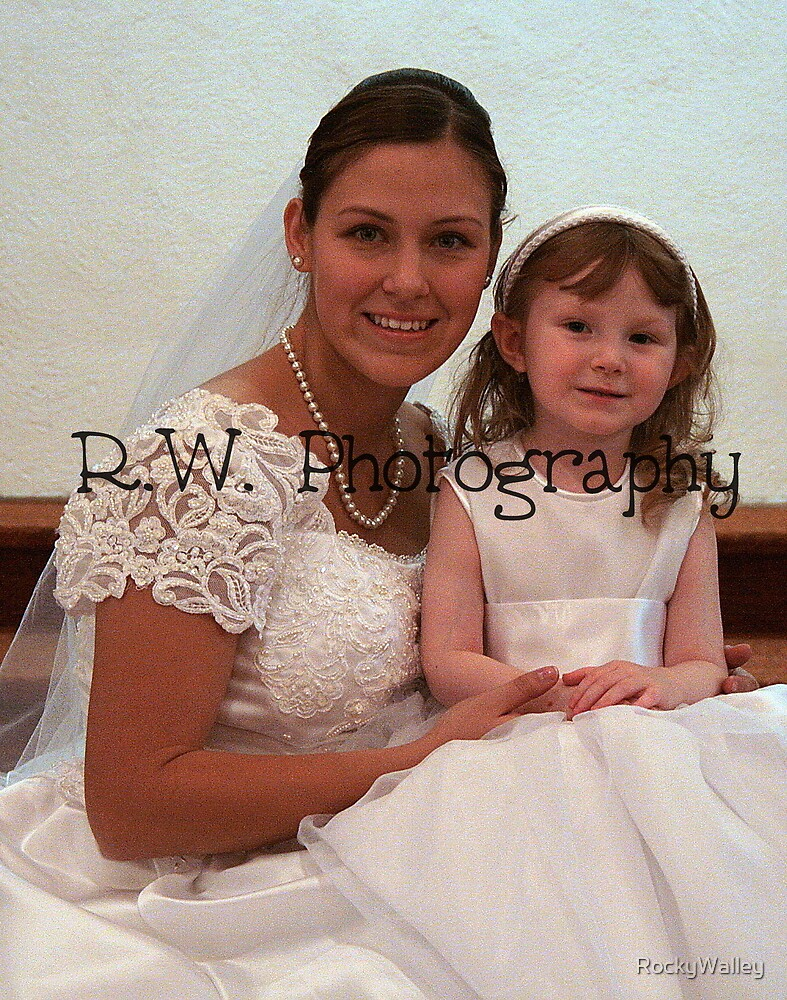 Bride and Flower Girl - R.W. Photography by RockyWalley