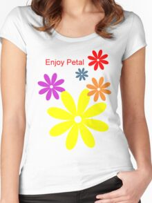 Enjoy Petal Women's Fitted Scoop T-Shirt
