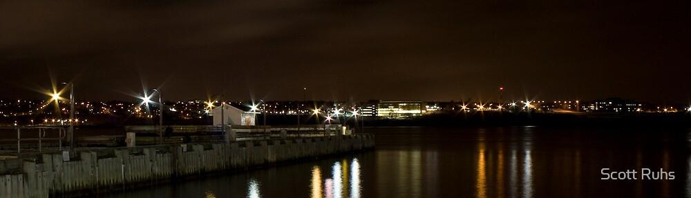 Halifax Waterfront at Night II by Scott Ruhs