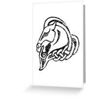 Skyrim Distressed Whiterun Logo - B&W Greeting Card