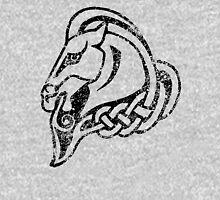 Skyrim Distressed Whiterun Logo - B&W T-Shirt