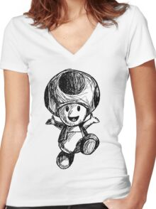 Toad Women's Fitted V-Neck T-Shirt