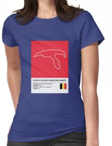 Circuit de Spa-Francorchamps - v2 Womens Fitted T-Shirt
