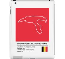 Circuit de Spa-Francorchamps - v2 iPad Case/Skin