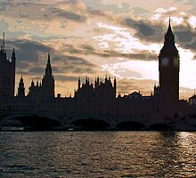 British Parliament Silhouette by Al Bourassa