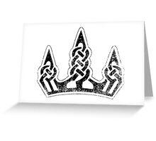 Skyrim Distressed Winterhold Logo - B&W Greeting Card