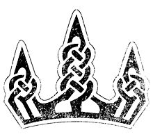Skyrim Distressed Winterhold Logo - B&W Photographic Print