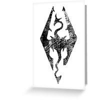 Skyrim Distressed Logo Greeting Card