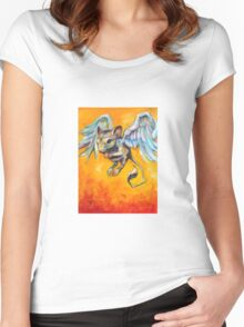 Winged Rodent (Learning to Fly) Women's Fitted Scoop T-Shirt