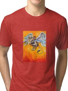 Winged Rodent (Learning to Fly) Tri-blend T-Shirt