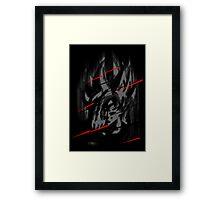 Goku Teleport Framed Print