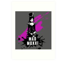 Mad Moxxi (Colored BG) Art Print