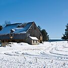 Old Rustic Barn and Snow by ericseyes