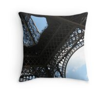 Underneath the Eiffel Tower Throw Pillow