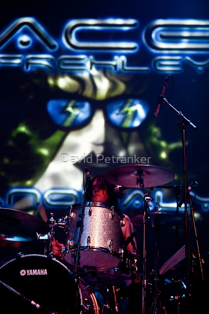 Drummer at Ace Frehley's Concert by David Petranker