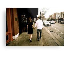 Kate and Nathan walk Metal Print