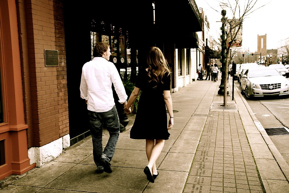 Kate and Nathan walk by JulieSaunders