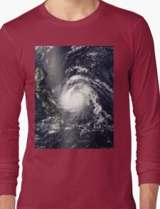 Eye Of The Storm  - Amazing Hurricane Photographed from Space Long Sleeve T-Shirt