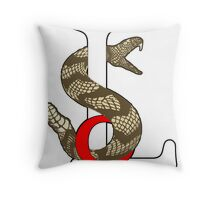 Sons Of Liberty with Gadsden Rattler Throw Pillow