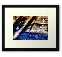 Coming or Going Framed Print