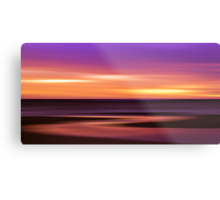 Slow Motion - abstract sunset Metal Print