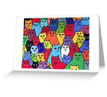 The Cat Pack Greeting Card