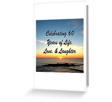 JOYFUL 60TH CELEBRATION Greeting Card