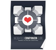 Weighted Companion Cube Loves You Poster