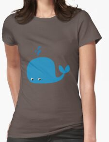 Cute Little Whale Womens Fitted T-Shirt
