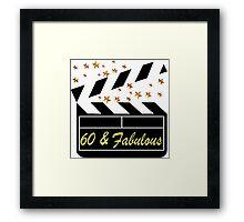 60 YR OLD MOVIE STAR Framed Print
