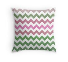 Pink Roses in Anzures 1 Chevron 2T Throw Pillow