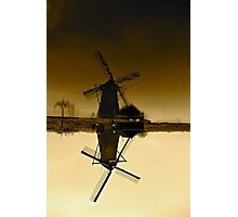 Freezing Windmill Photographic Print