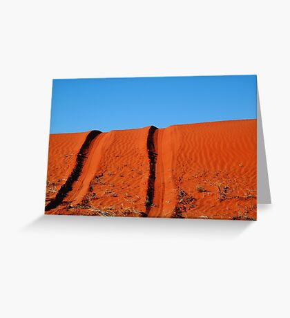 Up and Over,Madigan Line Simpson Desert Greeting Card