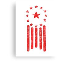 Old World America Flag [RED] Canvas Print