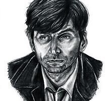 David Tennant as Broadchurch's Alec Hardy (or Gracepoint's Emmett Carver) (Graphite) Portrait  by Indigo East