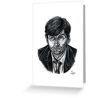 David Tennant as Broadchurch's Alec Hardy (or Gracepoint's Emmett Carver) (Graphite) Portrait  Greeting Card