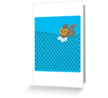 New York Squirrel Greeting Card