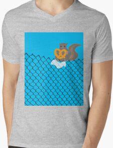 New York Squirrel Mens V-Neck T-Shirt