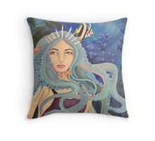 Down Below the Ocean Throw Pillow