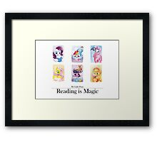 Reading is magic Framed Print
