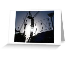 Cranes - MCG Southern Stand Greeting Card