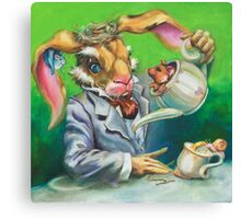 March Hare at the Tea Party Canvas Print